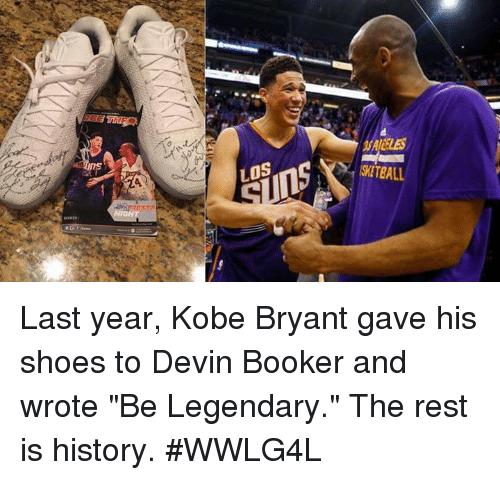 wholesale dealer 69d0b 4dcce LOS ITEALL Last Year Kobe Bryant Gave His Shoes to Devin ...