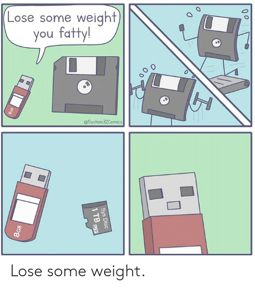 Memes, 🤖, and You: Lose some weight  you fatty!  @System32Comics  a un Lose some weight.
