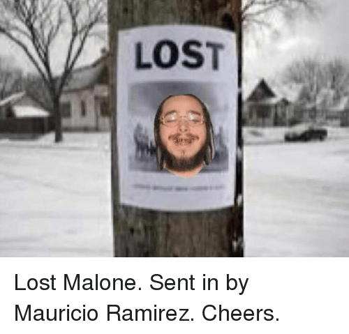 Lost, Cheers, and Malone: LOST Lost Malone. Sent in by Mauricio Ramirez. Cheers.