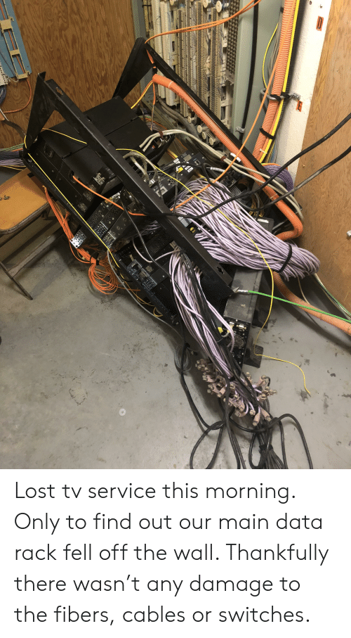 Pleasant Lost Tv Service This Morning Only To Find Out Our Main Data Rack Wiring Digital Resources Hutpapmognl