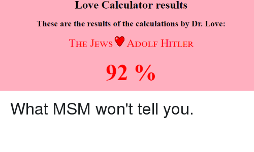 love calculator real results
