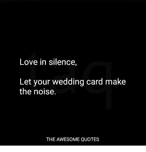Noise at wedding