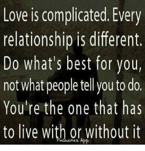what does it mean when someone says they are in a complicated relationship?