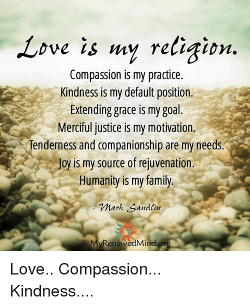 New Love Is My Religion Compassion Is My Practice Kindness Is My  HY23