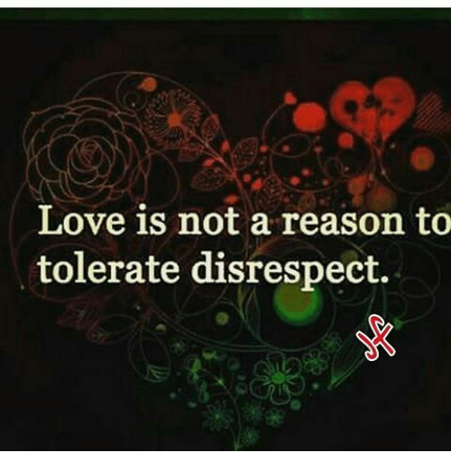 Image result for tolerance of disrespect