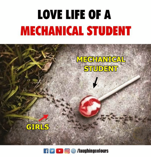 Girls, Life, and Love: LOVE LIFE OF A  MECHANICAL STUDENT  MECHANICAL  STUDENT  GIRLS