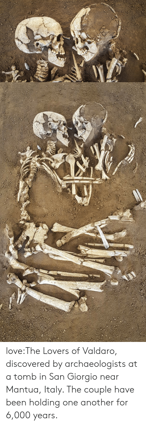 Love, Tumblr, and Wikipedia: love:The Lovers of Valdaro, discovered by archaeologists at a tomb in San Giorgio near Mantua, Italy. The couple have been holding one another for 6,000 years.
