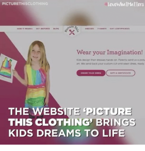 990538b74 Love WhatMatters PICTURETHISCLOTHING Wear Your Imagination! Kids ...