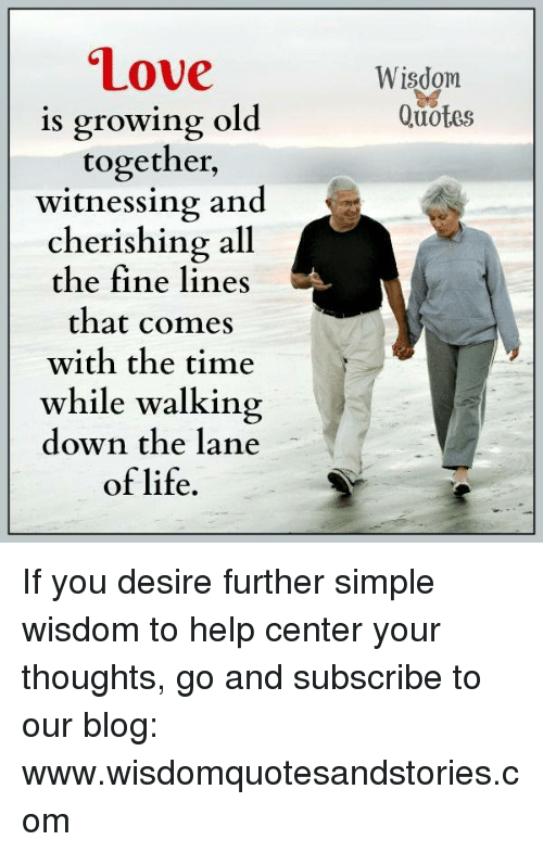 Love Wisdom Is Growing Old Together Witnessing And Cherishing All