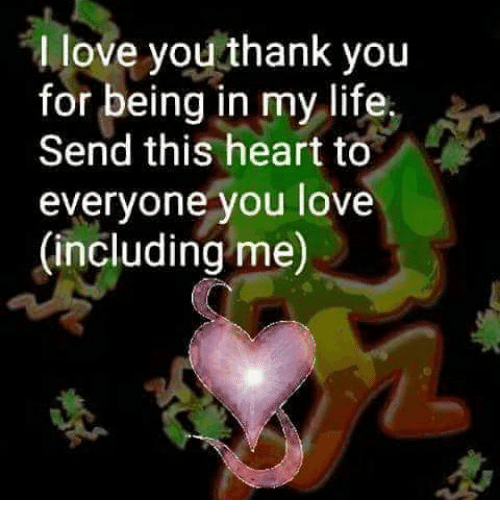 thank you and i love you