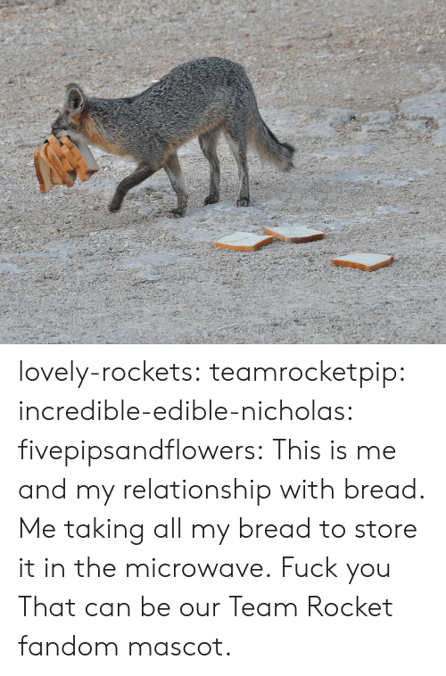 Fuck You, Target, and Tumblr: lovely-rockets:  teamrocketpip:  incredible-edible-nicholas:  fivepipsandflowers:  This is me and my relationship with bread.   Me taking all my bread to store it in the microwave.  Fuck you  That can be our Team Rocket fandom mascot.