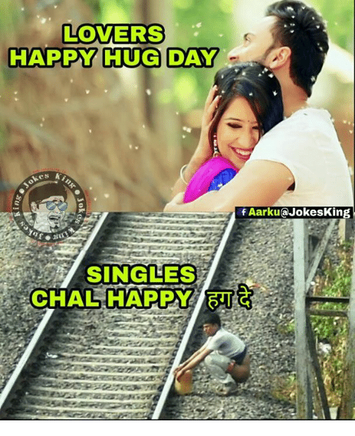 Lovers Happy Hug Day Chal Happy Faarku At Jokesking Meme On Meme