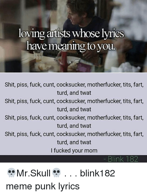 Shit piss fuck lyrics
