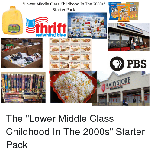 Lower Middle Class Childhood In The 2000s Starter Pack Thritt