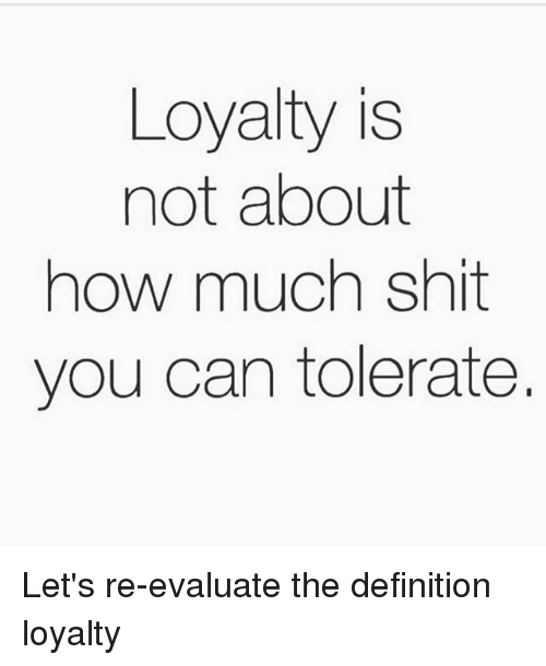 the definition of loyalty