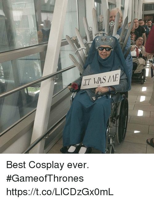 Best, Cosplay, and Gameofthrones: LT AS ME Best Cosplay ever. #GameofThrones https://t.co/LlCDzGx0mL