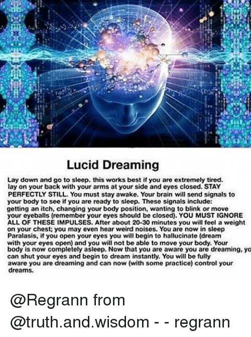 Lucid Dreaming Lay Down and Go to Sleep This Works Best if You Are
