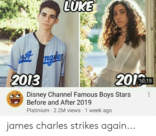LUKE 2013 1019 Disney Channel Famous Boys Stars Before and
