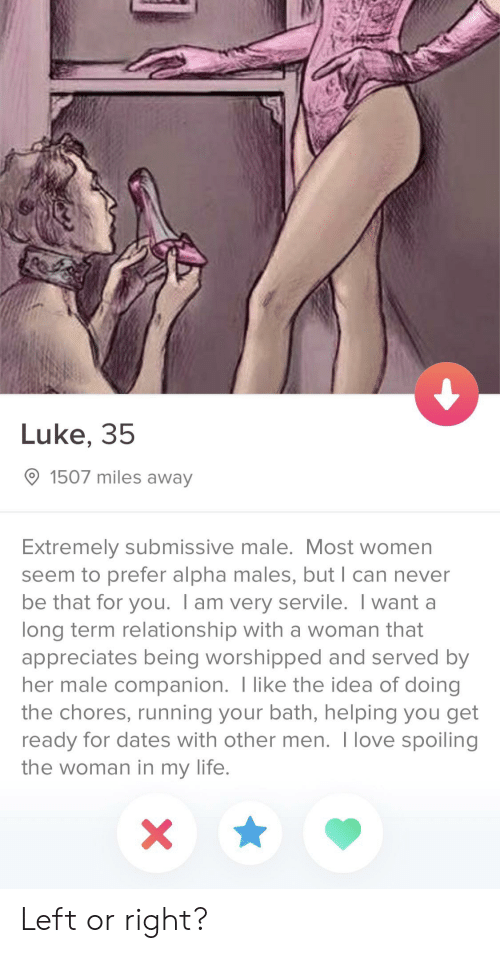 What is a submissive male