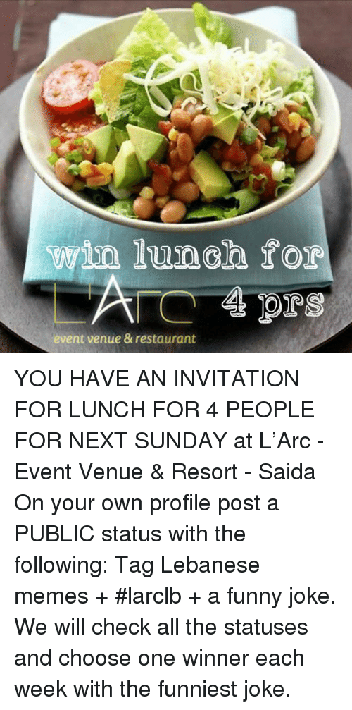 Lunch For Event Venue Restaurant You Have An Invitation For Lunch