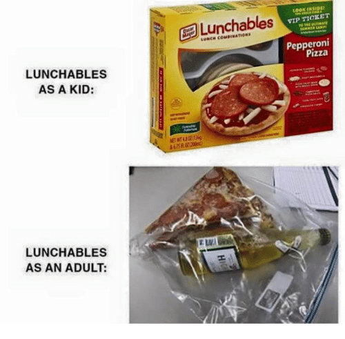 Lunchables As A Kid Lunchables As An Adult A Gea Lunchables