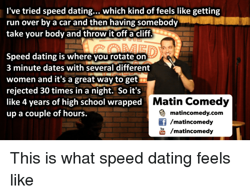 What speed dating is like