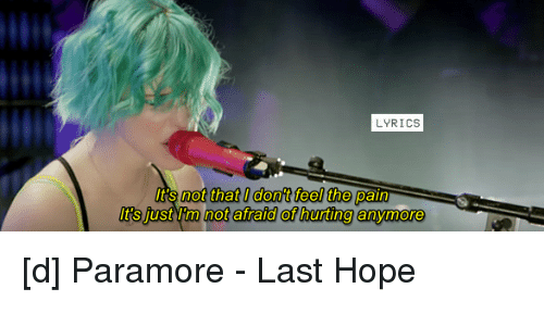 LYRICS It's Not That Dont Feel the Pain It's Just L M Not