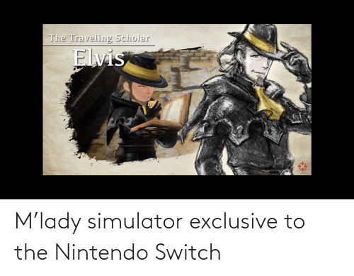 Nintendo, Neckbeard Things, and Switch: M'lady simulator exclusive to the Nintendo Switch
