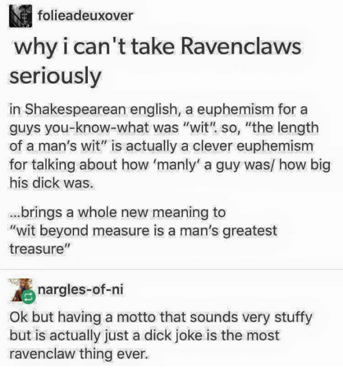 shakespeare dick jokes