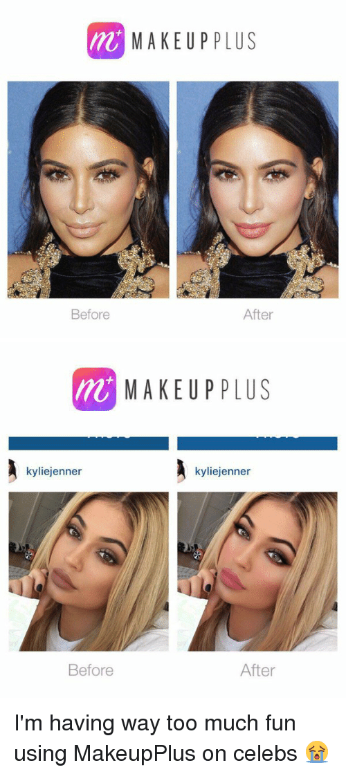 M MAKEUP PLUS After Before MAKEUP PLUS Kyliejenner
