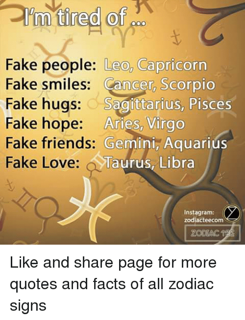 Search Facts Zodiac Signs Memes on SIZZLE