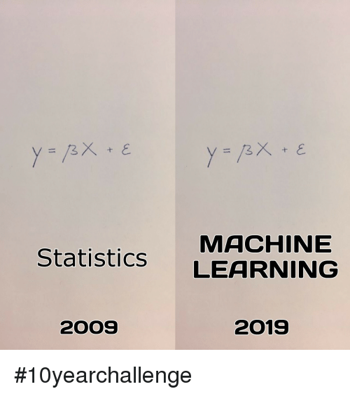 Statistics, Machine, and Learning: MACHINE  Statistics LEARNING  2OOS  2019 #10yearchallenge