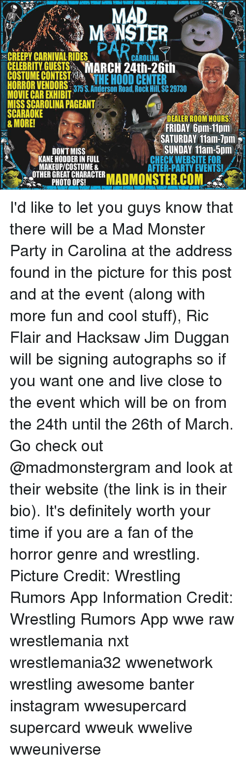 mad creepy carnivalrides carolina celebrity guests march 24th 26th costume contest 14936225 ✅ 25 best memes about jim duggan jim duggan memes