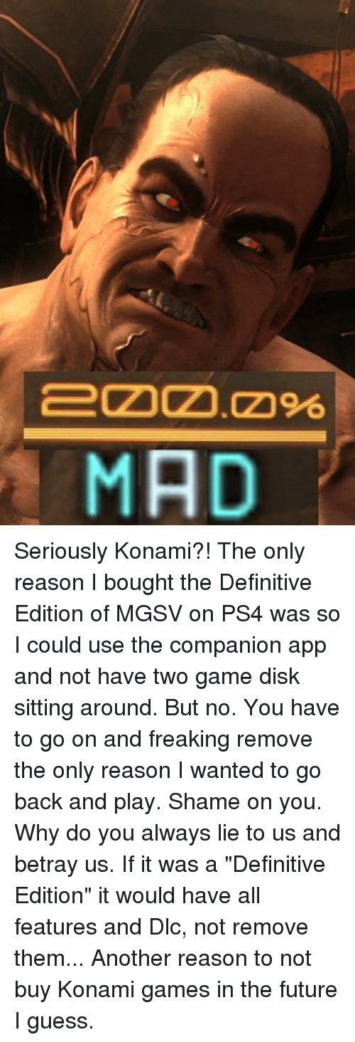 MAD Seriously Konami?! The Only Reason I Bought the Definitive