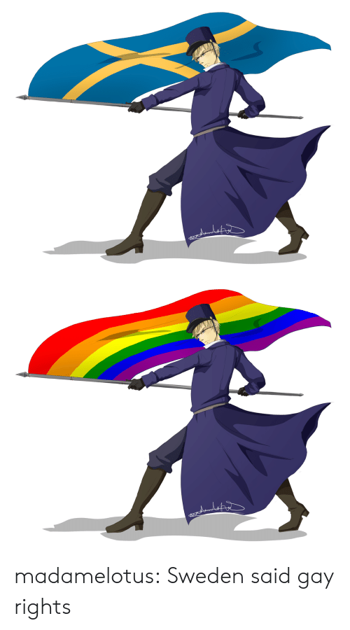 Target, Tumblr, and Blog: madamelotus:  Sweden said gay rights