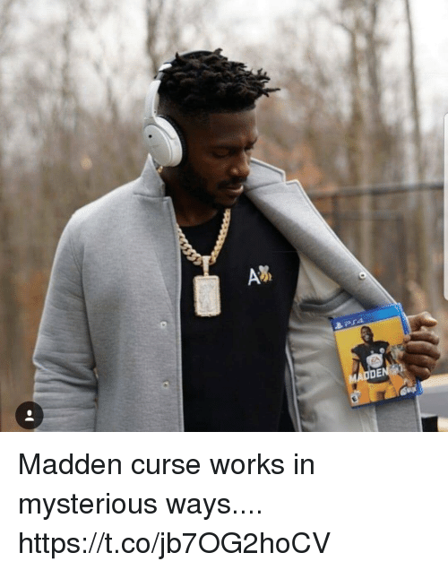 Madden, Madden Curse, and Works: Madden curse works in mysterious ways.... https://t.co/jb7OG2hoCV