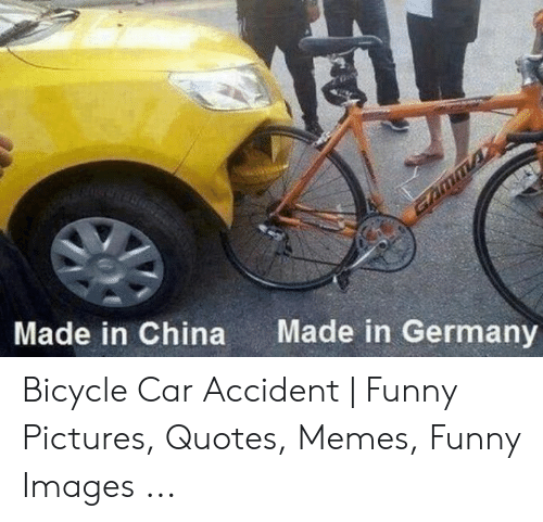 Made in Germany Made in China Bicycle Car Accident | Funny