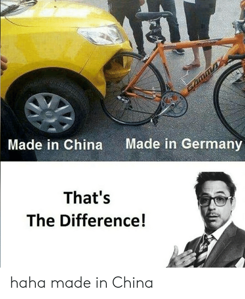 China, Germany, and Terrible Facebook: Made in Germany  Made in China  That's  The Difference! haha made in China