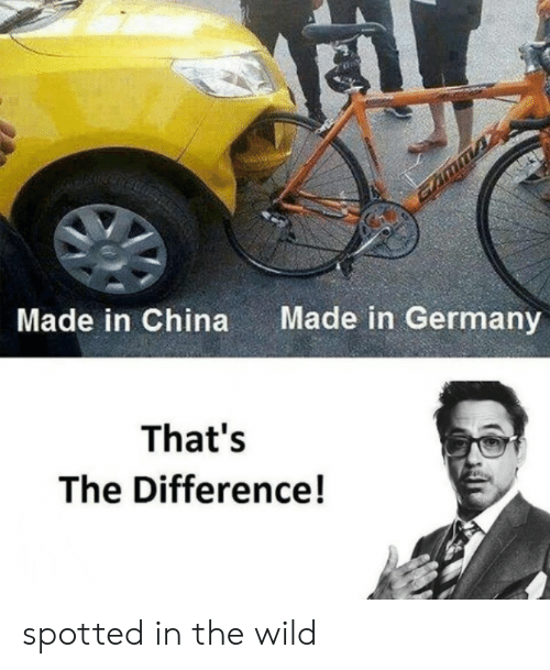 China, Germany, and Wild: Made in Germany  Made in China  That's  The Difference! spotted in the wild