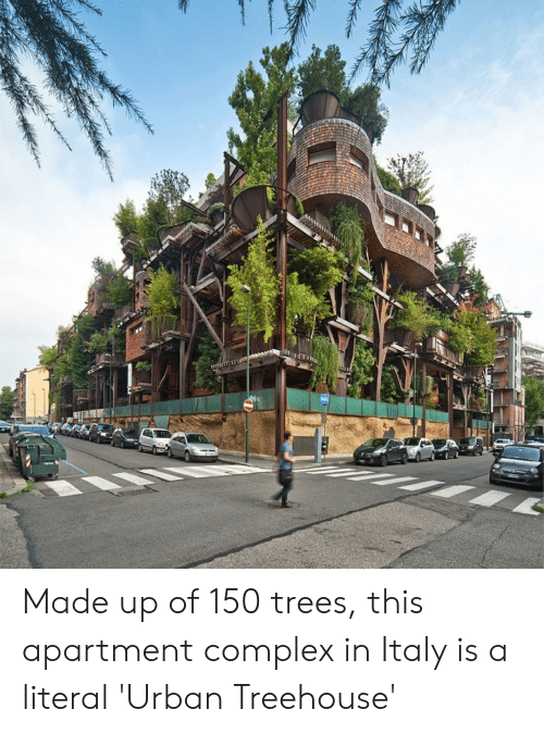 Complex, Trees, and Urban: Made up of 150 trees, this apartment complex in Italy is a literal 'Urban Treehouse'