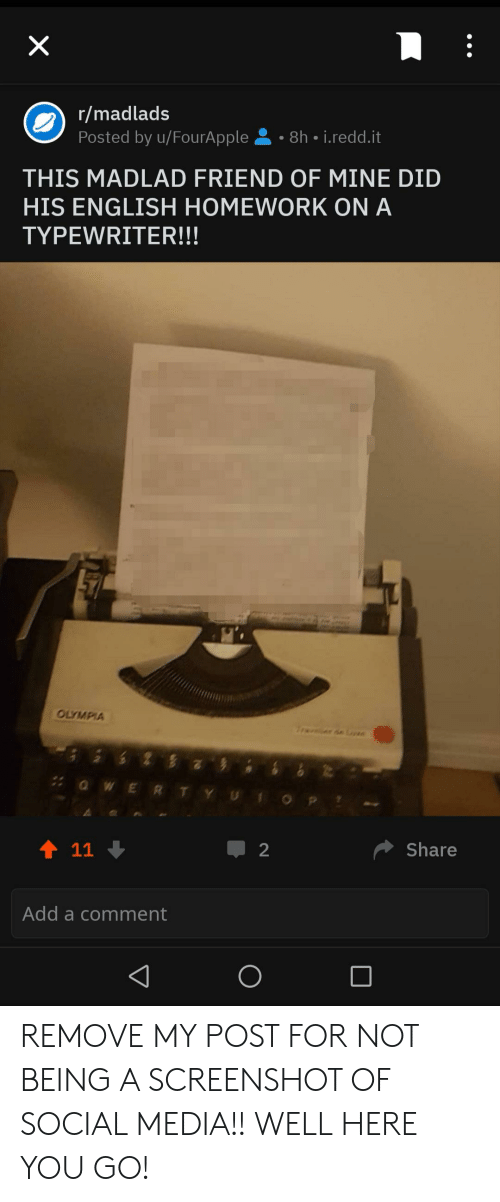 Madlads Posted by uFourApple 8h-Reddit THIS MADLAD FRIEND OF