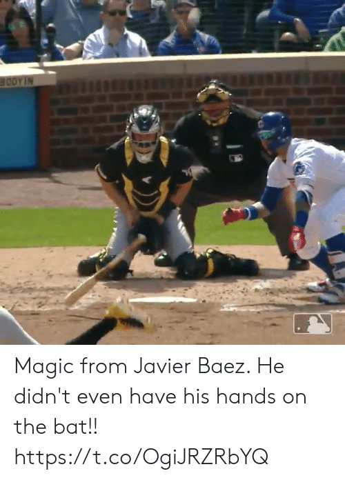 Memes, Magic, and 🤖: Magic from Javier Baez. He didn't even have his hands on the bat!!  https://t.co/OgiJRZRbYQ