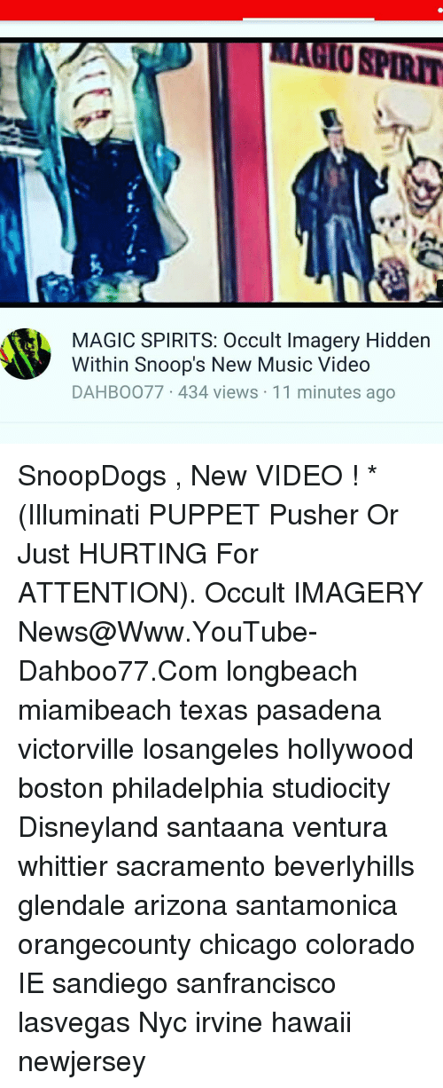 MAGIC SPIRITS Occult Imagery Hidden Within Snoop's New Music