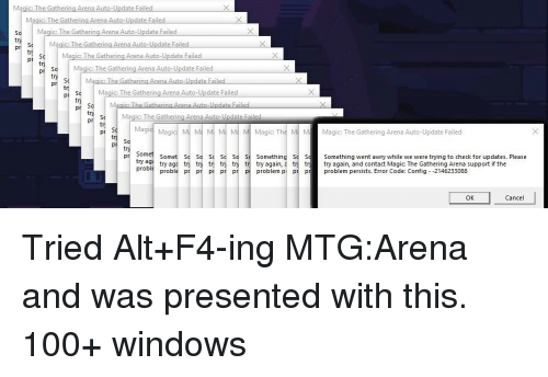 Magic the G Athering Arena a Date Failed Arena Auto-Update Failed So