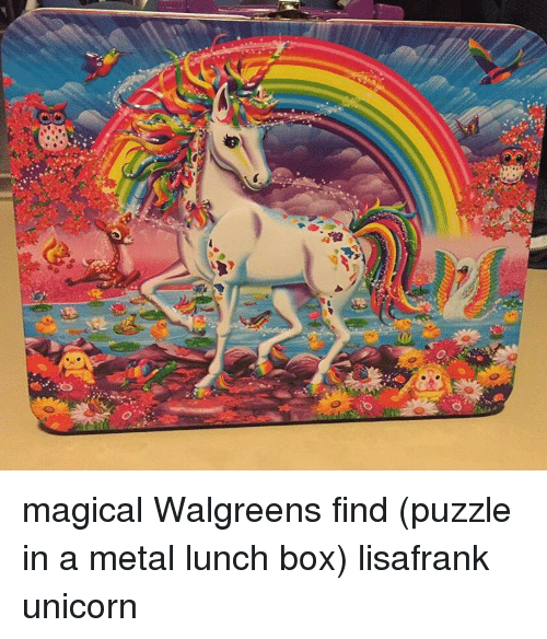 Memes Unicorn And Walgreens Magical Find Puzzle In A Metal Lunch