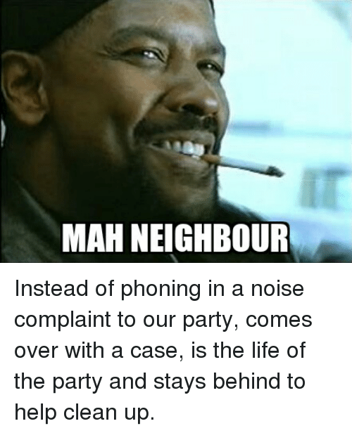 Neighbour Comes Over