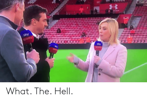 Soccer, Sports, and Hell: main e  LiV  shy  sports What. The. Hell.