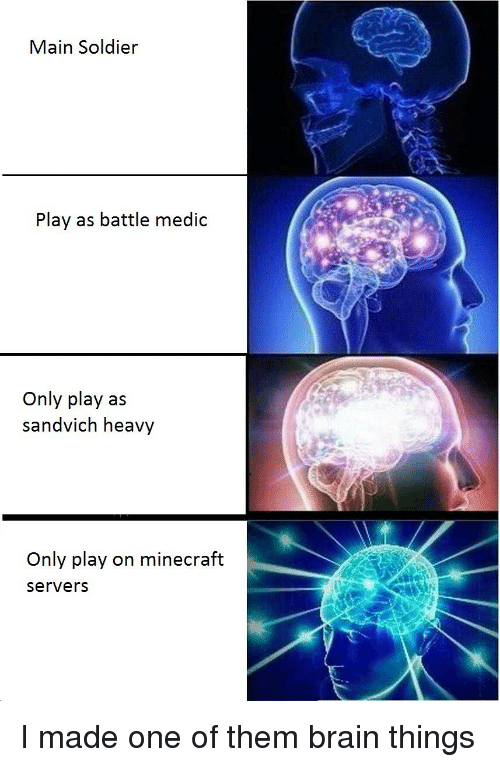 Main Soldier Play As Battle Medic Only Play As Sandvich Heavy Only