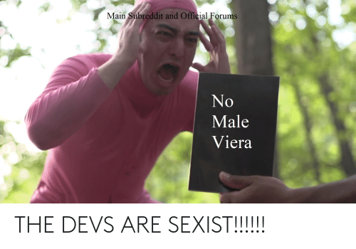 Main Subreddit and Official Forums Male Viera THE DEVS ARE