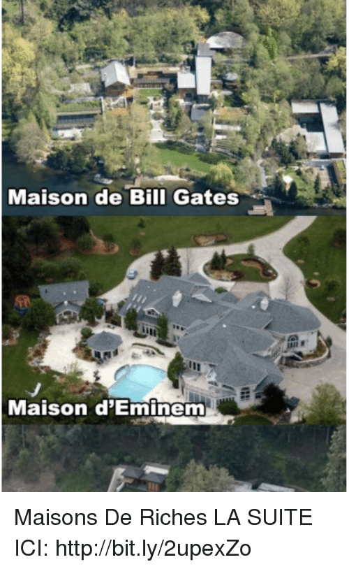 maison de bill gates maison d 39 eminem maisons de riches la suite ici httpbitly2upexzo bill. Black Bedroom Furniture Sets. Home Design Ideas